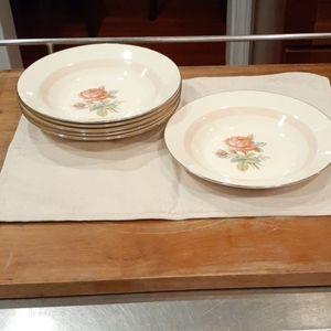 Set of 6  Homer Laughlin Soup Plates